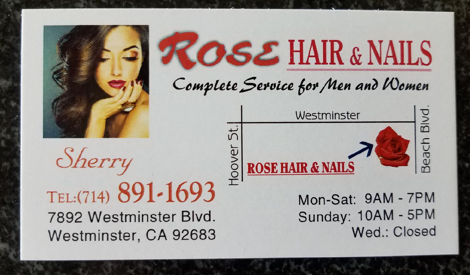 ROSE HAIR AND NAIL