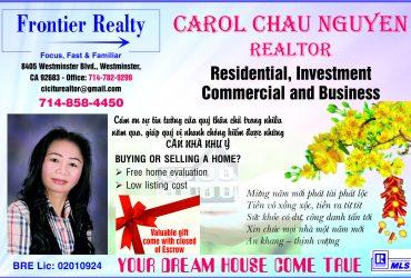 Chuyên viên địa ốc Carol Châu Nguyễn